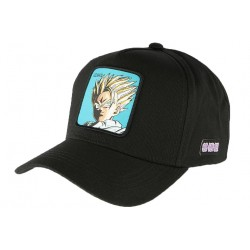 Casquette Gohan Supa Dragon Ball Z noire et bleue Collabs CASQUETTES COLLABS