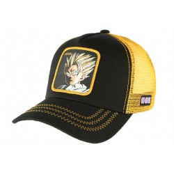 Casquette trucker Gohan Supa Dragon Ball Z jaune noire Collabs CASQUETTES COLLABS