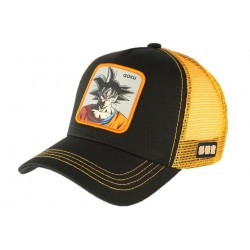 Casquette trucker Goku Dragon Ball Z orange noire Collabs CASQUETTES COLLABS