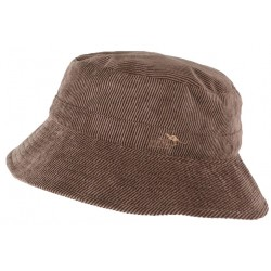 Chapeau Bob marron en velours Aussie Apparel roulable