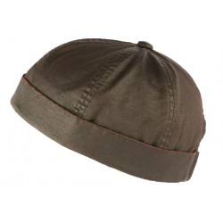 Bonnet docker Marron Vintage en Coton Aussie Apparel BONNETS Aussie Apparel