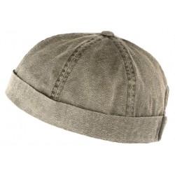 Bonnet docker Gris Vintage en Coton Aussie Apparel