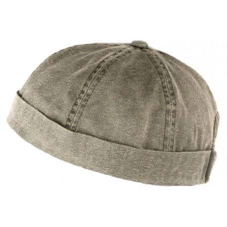 Bonnet docker Gris Vintage en Coton Aussie Apparel BONNETS Aussie Apparel