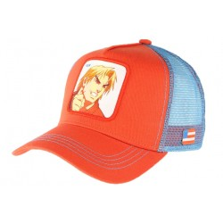 Casquette Ken Street Fighter rouge bleue Collabs