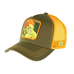 Casquette Blanka Street Fighter vert orange Collabs