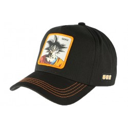 Casquette Goku Dragon Ball Z noire orange Collabs CASQUETTES COLLABS