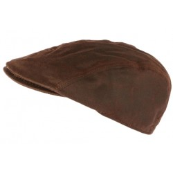Casquette Coton Huile marron Wax Creation Francaise