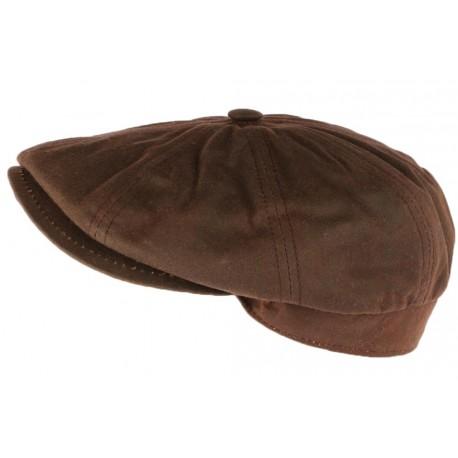 Casquette gavroche Coton Huile marron Creation Francaise