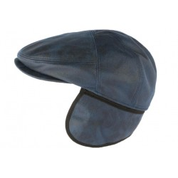 Casquette cache oreille cuir suédine bleu Epsom Aussie Apparel CASQUETTES Aussie Apparel