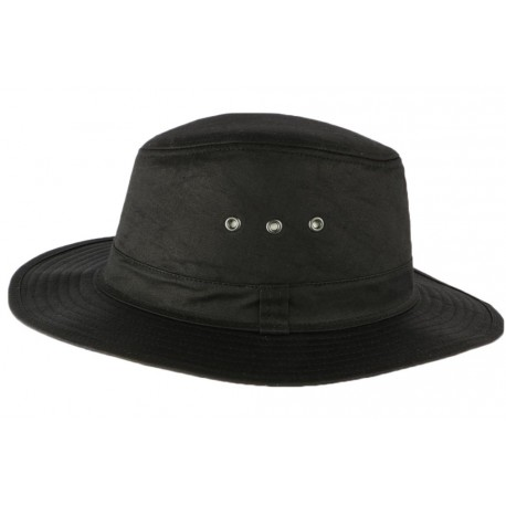 Chapeau Huilé noir traveler type Brousse Travys