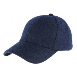 Casquette baseball laine bleu marine Brenne