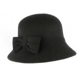Chapeau Cloche Noir Femme en feutre Lolie CHAPEAUX Léon montane