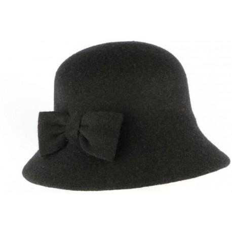 Chapeau Cloche Noir Femme en feutre Lolie