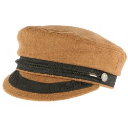 Casquette de marin marron camel fashion Corty