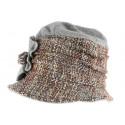 Toque chapeau laine femme marron gris Leana