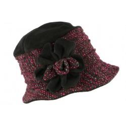 Toque chapeau laine femme noire rose Leana CHAPEAUX Léon montane
