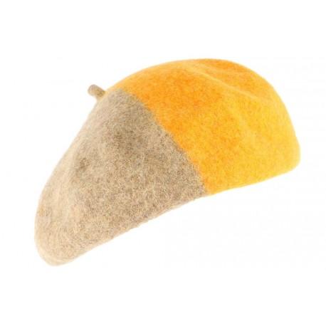 Beret Femme orange et marron tendance Mado BERETS Léon montane