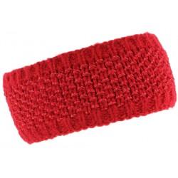 Bandeau laine femme rouge doublure polaire Hastya Bandeau Léon montane