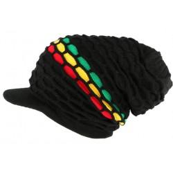 Casquette bonnet rasta noir Lynston Nyls Creation BONNETS Nyls Création