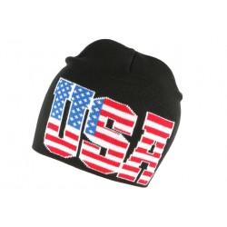 Bonnet court Usa drapeau americain tendance