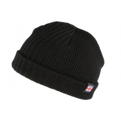 Bonnet court Noir drapeau UK double polaire