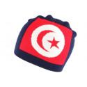 Bonnet Turquie rouge et bleu marine croissant et étoile