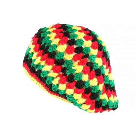Beret Bonnet Rasta jaune vert rouge oversize Raygo BONNETS Nyls Création