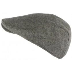 Casquette Plate gris clair en laine Magny Nyls Creation CASQUETTES Nyls Création