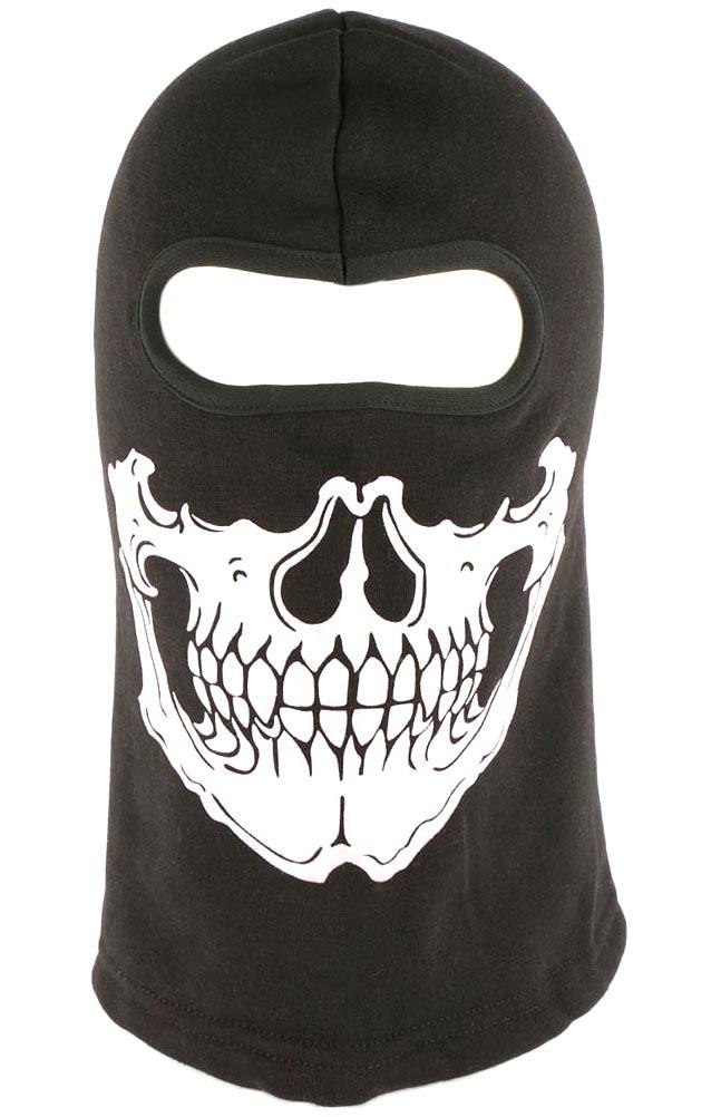 Cagoule machoire squelette cache cou squelette bandeau foulard cagoule noir moto