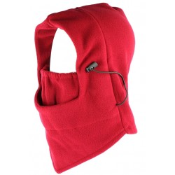 Cagoule Ski polaire rouge evolutive snood masque Skyway