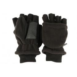 Gant Mitaine moufle amovible polaire noire Fingy