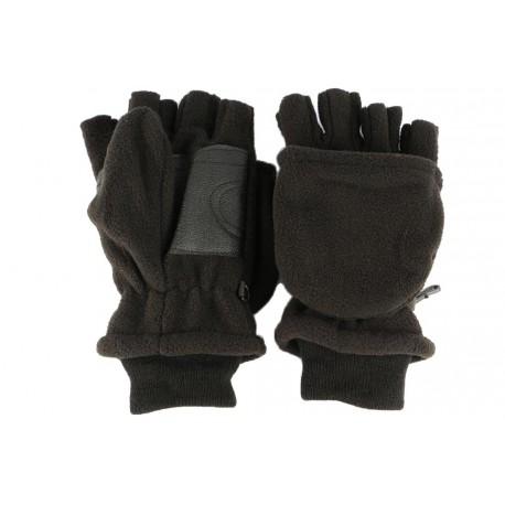 3ba8ba6522599 Gants Moufles Mitaines Noirs, gants transformables polaire livré 48h!