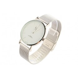 Montre maille milanaise argent tendance Saxo GG Luxe