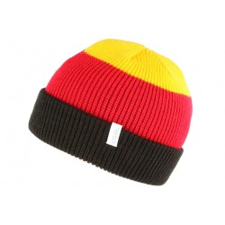 Bonnet Coal noir rouge jaune The Frena