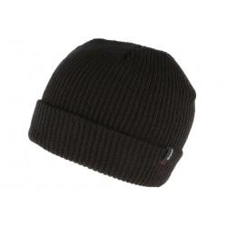 Bonnet Brixton Noir Heist en laine