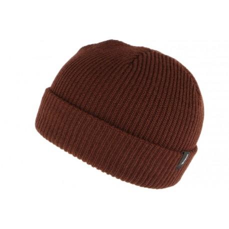 Bonnet Brixton Marron Heist en laine