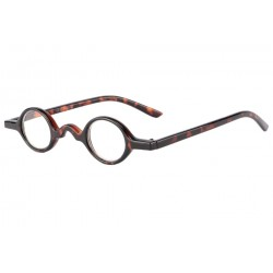 Lunettes Loupe rondes marron Malaga Dioptrie +3,5