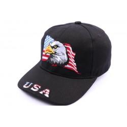 Casquette Aigle drapeau USA Noir CASQUETTES Nyls Création
