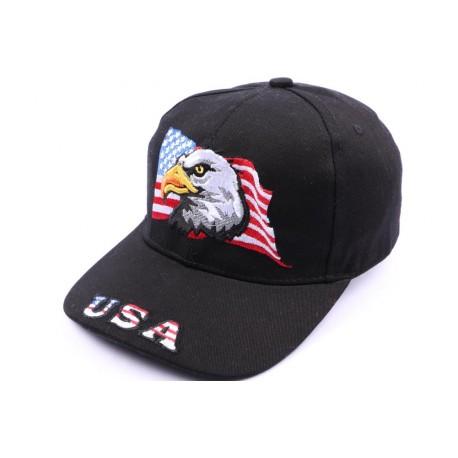 Casquette Aigle drapeau USA Noir