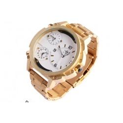 Grosse montre doree triple fuseau horaire Fyrkex Michael John Montre Michael John