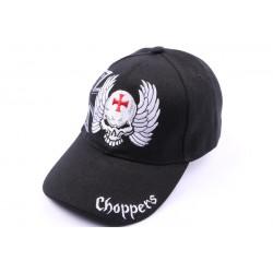Casquette Choppers avec tête et croix noir ANCIENNES COLLECTIONS divers