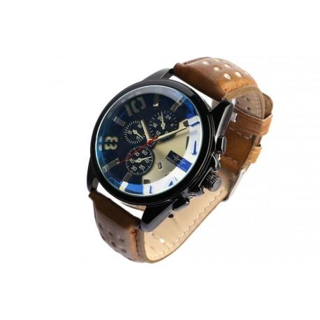 Grosse montre chronographe marron fashion Jex Michael John
