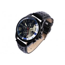 Grosse montre chronographe noire fashion Jex Michael John Montre Michael John
