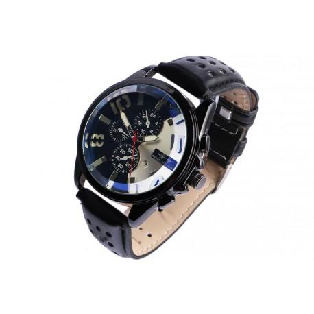 Grosse montre chronographe noire fashion Jex Michael John Montre Michael John