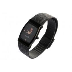 Fin Bracelet Montre Femme noir maille milanaise Subty GG Luxe Montre GG Luxe