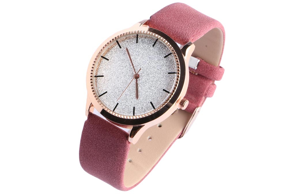 montre bracelet cuir et argent femme