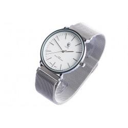 Montre Argent et Blanc bracelet aimanté Johnstone Montre GG Luxe