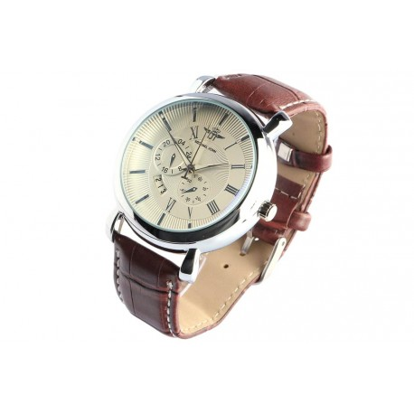 Bracelet Montre Homme marron Dateur Classe Astex