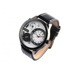 Grande montre homme bracelet cuir double fuseaux Forkex Montre Michael John