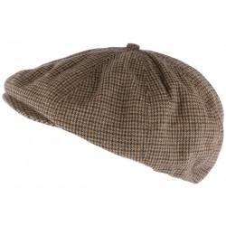 Casquette Gavroche marron en laine classique Etna